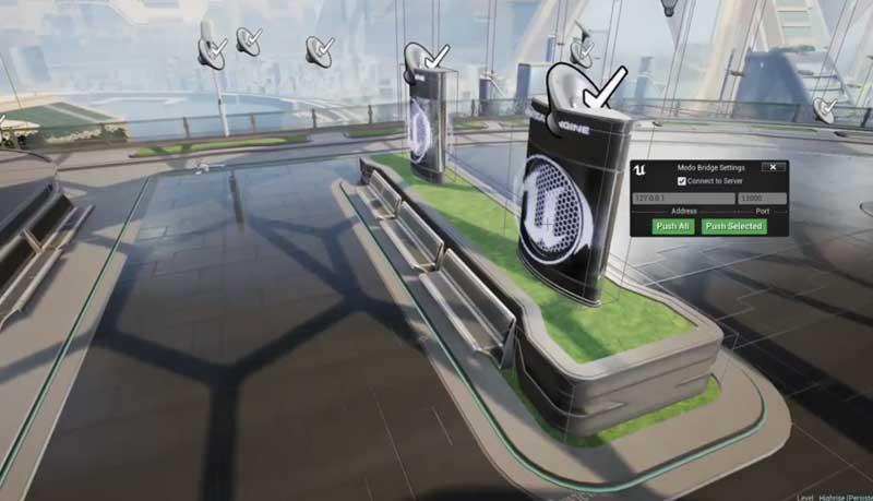 Modo Bridge Unreal - Modo 11.1的发布加入虚幻引擎的数据链接